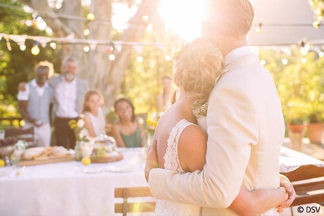 Ehepaar Hochzeitsfeier