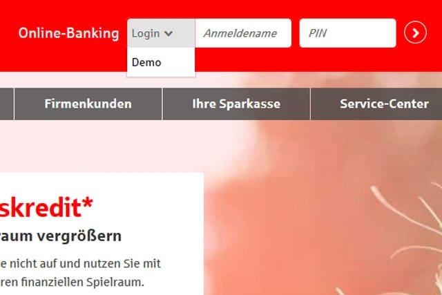 Screenshot Demo-Konto Internetfiliale